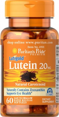 Puritan's Pride Lutein 20 mg with Zeaxanthin 60/капс.