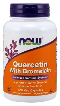 NOW Quercetin with Bromelain 120/капс.