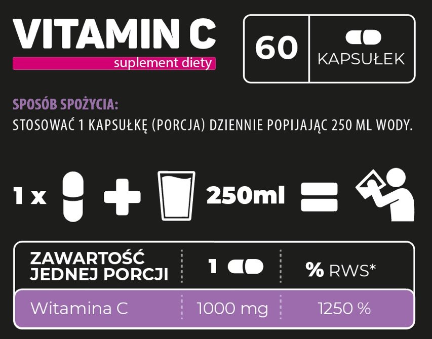 Endorfina  Vitamin C 1000  /60 caps