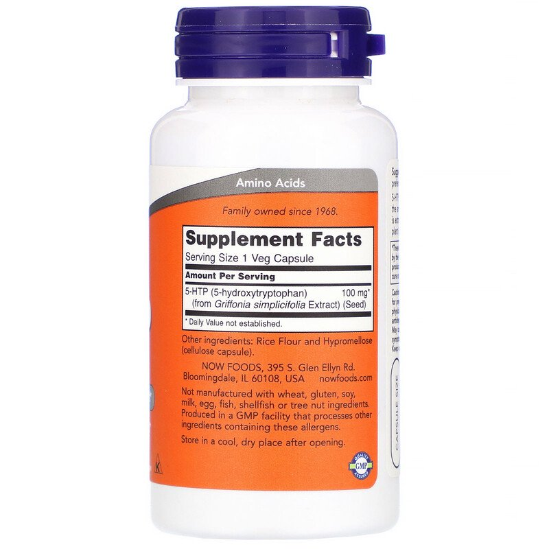 NOW 5-HTP  100 mg 60/капс.