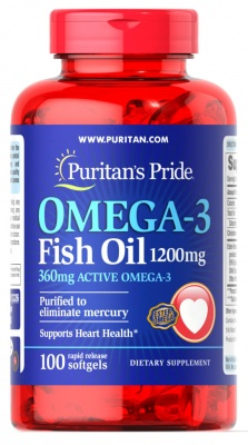 Puritan's Pride Omega-3  1200 mg 100 softgels