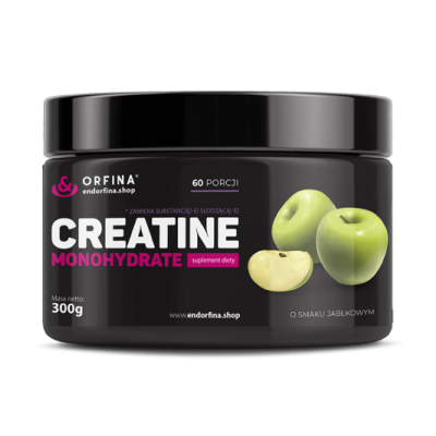 Endorfina creatine monohydrate / 300 g  green apple
