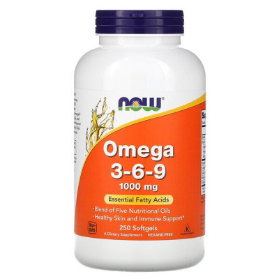 NOW Omega 3-6-9 250/softgels