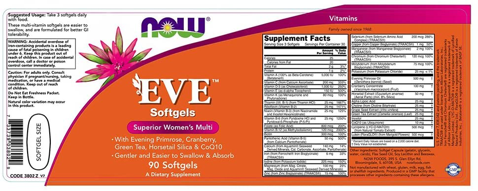 NOW Eve Superior Women's Multi /90 softgels