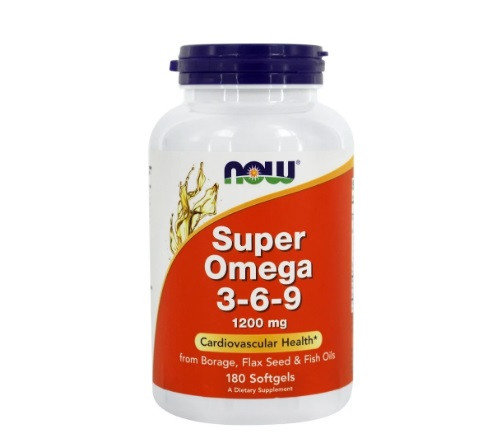 NOW Super Omega 3-6-9 1200 mg /180 softgels