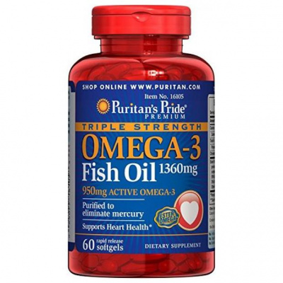 Puritan's Pride Omega 3  Active 950 mg / 60 softgels