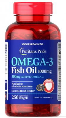 Puritan's Pride Omega 3 1000 mg /250 softgels